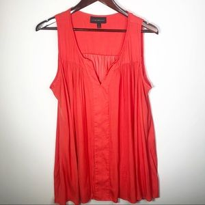 Lane Bryant Orange V-Neck Tunic Top Sz 18